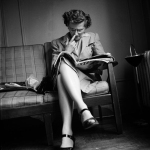 woman in waiting room