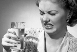 drinking water not booze